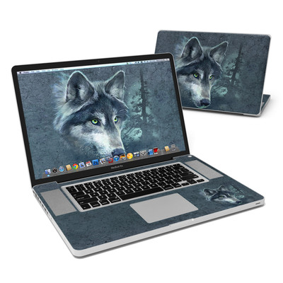 MacBook Pro 17in Skin - Wolf Reflection