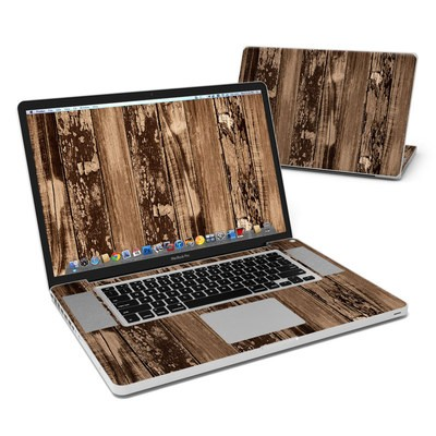 MacBook Pro 17in Skin - Weathered Wood