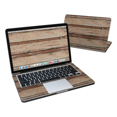MacBook Pro Retina 13in Skin - Boardwalk Wood