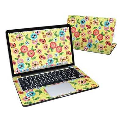 MacBook Pro Retina 13in Skin - Button Flowers