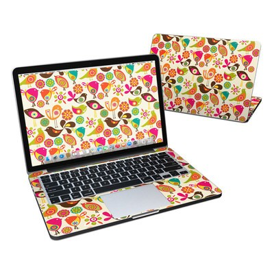 MacBook Pro Retina 13in Skin - Bird Flowers