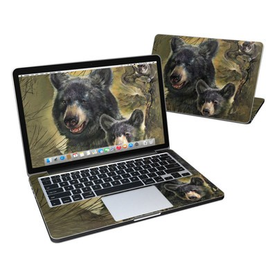 MacBook Pro Retina 13in Skin - Black Bears