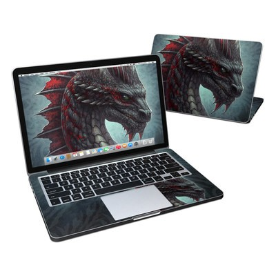 MacBook Pro Retina 13in Skin - Black Dragon
