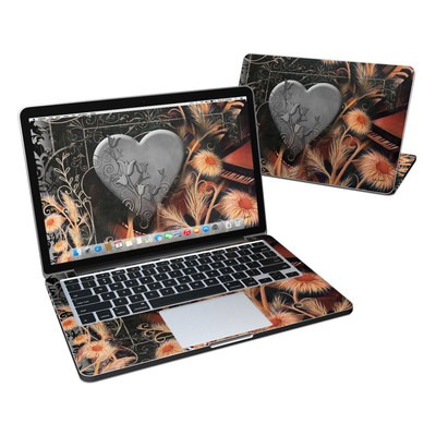MacBook Pro Retina 13in Skin - Black Lace Flower
