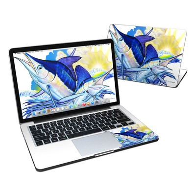 MacBook Pro Retina 13in Skin - Blue White and Yellow