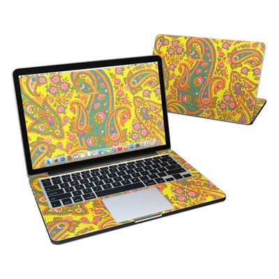 MacBook Pro Retina 13in Skin - Bombay Chartreuse