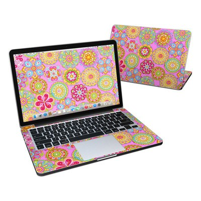 MacBook Pro Retina 13in Skin - Bright Flowers