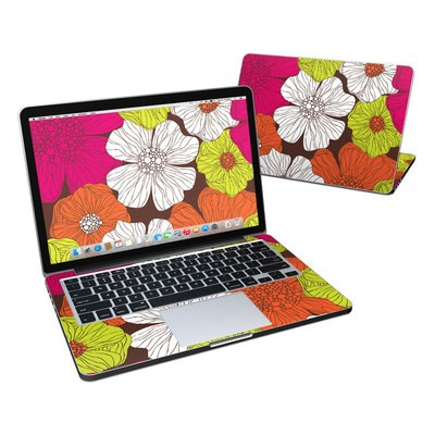 MacBook Pro Retina 13in Skin - Brown Flowers