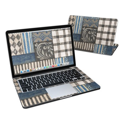 MacBook Pro Retina 13in Skin - Country Chic Blue