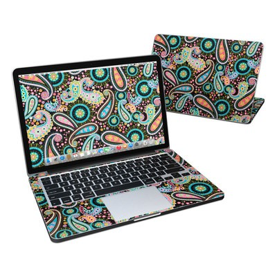 MacBook Pro Retina 13in Skin - Crazy Daisy Paisley