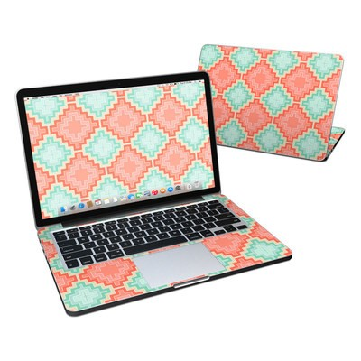 MacBook Pro Retina 13in Skin - Coral Diamond