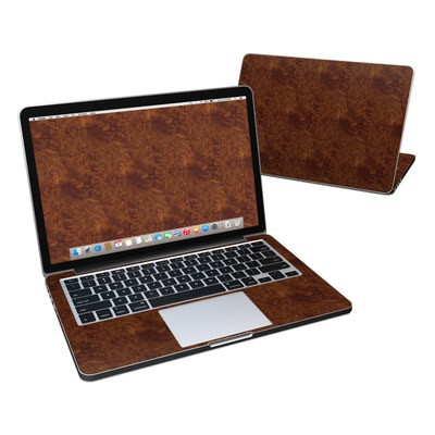 MacBook Pro Retina 13in Skin - Dark Burlwood