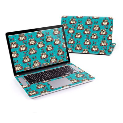 MacBook Pro Retina 13in Skin - Bulldogs and Roses