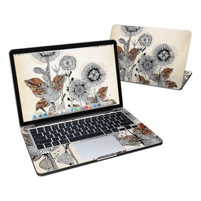 MacBook Pro Retina 13in Skin - Four Flowers