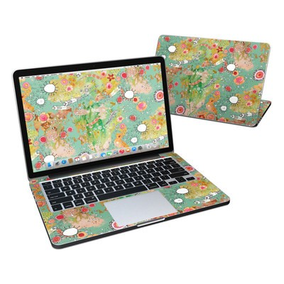 MacBook Pro Retina 13in Skin - Feathers Flowers Showers