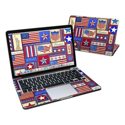 MacBook Pro Retina 13in Skin - Flag Patchwork