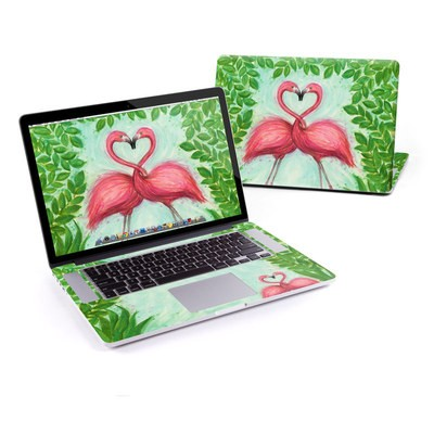 MacBook Pro Retina 13in Skin - Flamingo Love