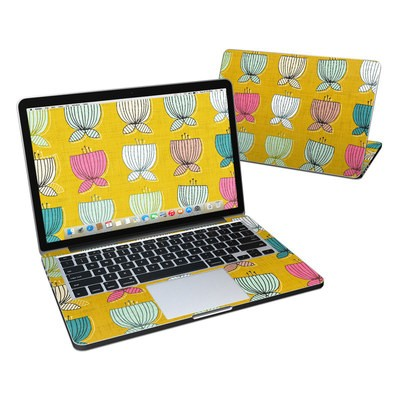 MacBook Pro Retina 13in Skin - Flower Cups