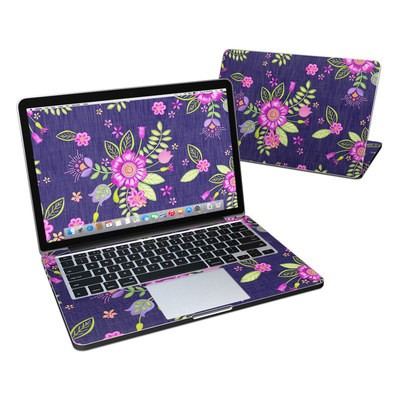 MacBook Pro Retina 13in Skin - Folk Floral
