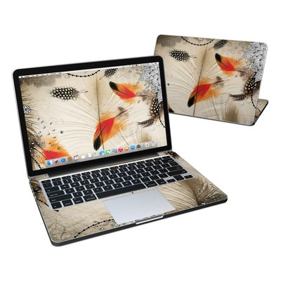 MacBook Pro Retina 13in Skin - Feather Dance
