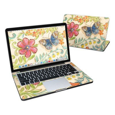 MacBook Pro Retina 13in Skin - Garden Scroll
