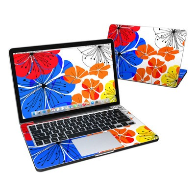 MacBook Pro Retina 13in Skin - Hibiscus Dance