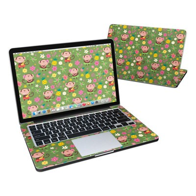 MacBook Pro Retina 13in Skin - Hula Monkeys