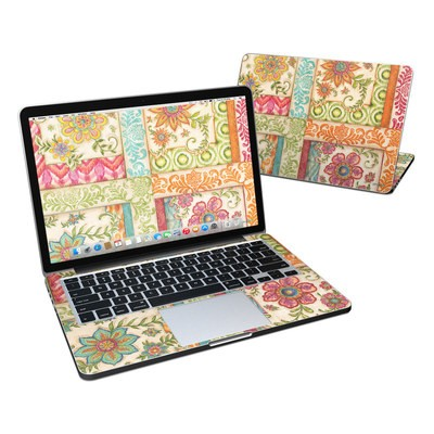 MacBook Pro Retina 13in Skin - Ikat Floral