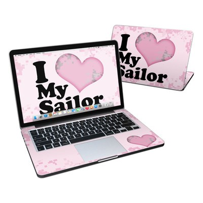 MacBook Pro Retina 13in Skin - I Love My Sailor