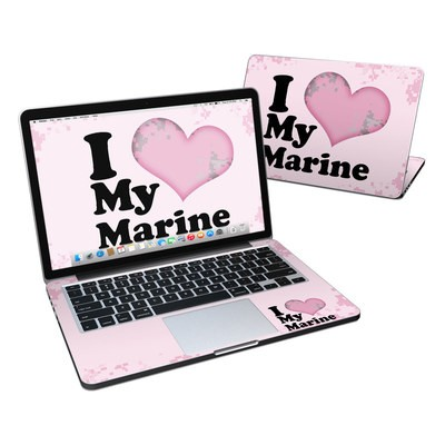 MacBook Pro Retina 13in Skin - I Love My Marine