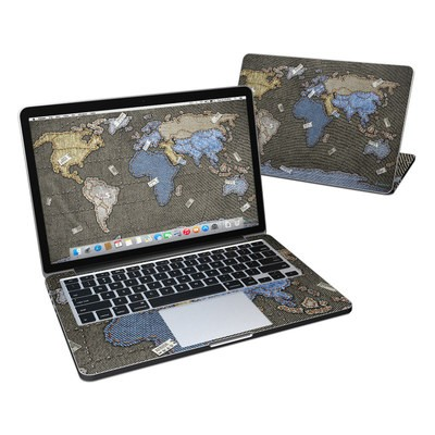 MacBook Pro Retina 13in Skin - Jean Map