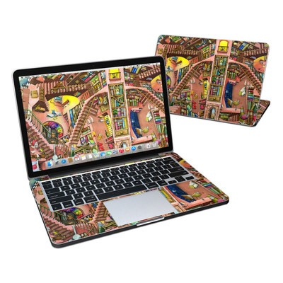 MacBook Pro Retina 13in Skin - Library Magic