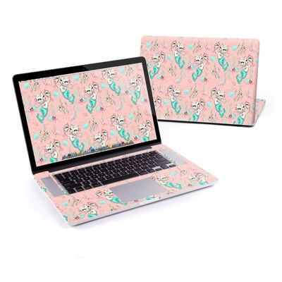 MacBook Pro Retina 13in Skin - Merkittens with Pearls Blush