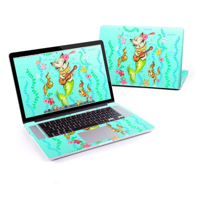 MacBook Pro Retina 13in Skin - Merkitten with Ukelele