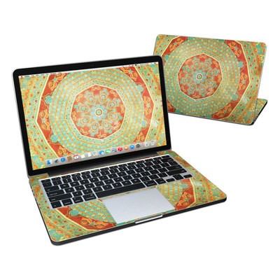 MacBook Pro Retina 13in Skin - Mandala Citrus