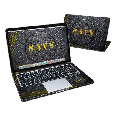 MacBook Pro Retina 13in Skin - Navy Diamond Plate