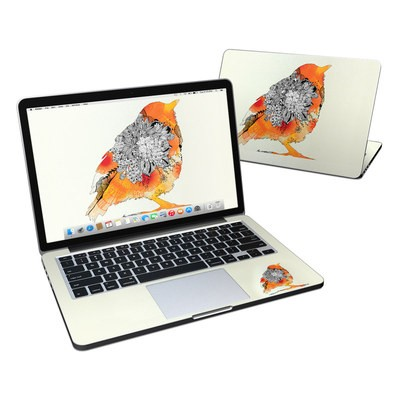 MacBook Pro Retina 13in Skin - Orange Bird