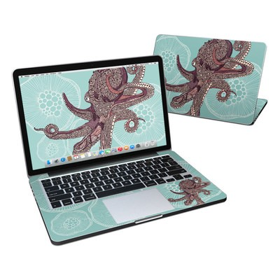 MacBook Pro Retina 13in Skin - Octopus Bloom