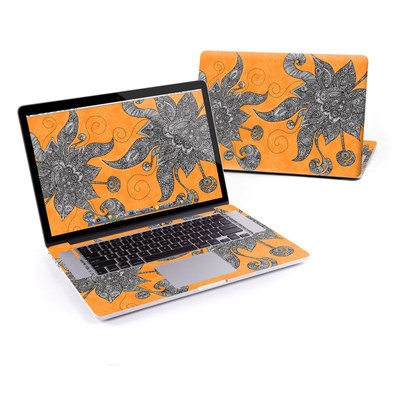 MacBook Pro Retina 13in Skin - Orange Flowers