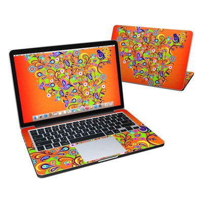 MacBook Pro Retina 13in Skin - Orange Squirt