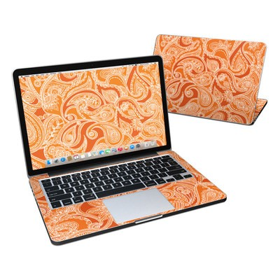 MacBook Pro Retina 13in Skin - Paisley In Orange