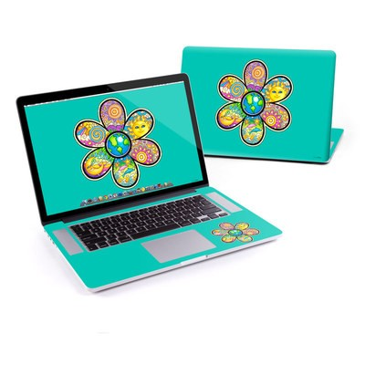 MacBook Pro Retina 13in Skin - Peace Flower