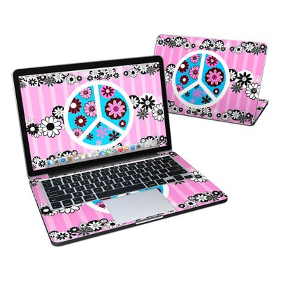 MacBook Pro Retina 13in Skin - Peace Flowers Pink