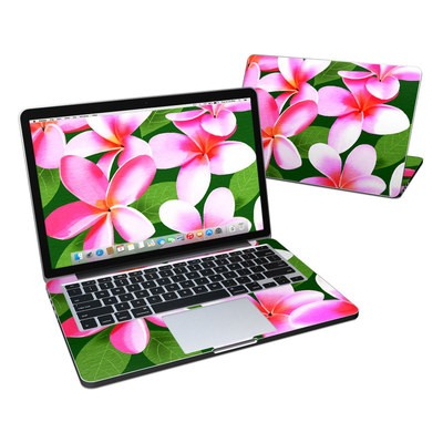 MacBook Pro Retina 13in Skin - Pink Plumerias