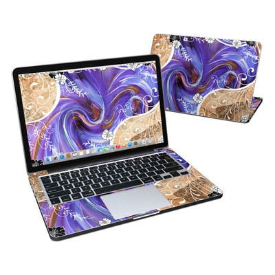 MacBook Pro Retina 13in Skin - Purple Waves