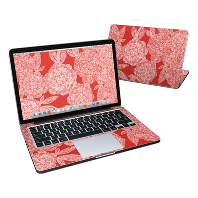 MacBook Pro Retina 13in Skin - Red Dahlias