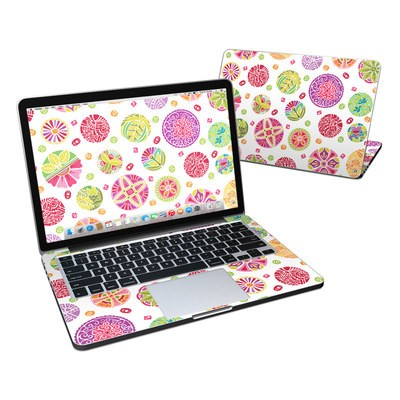 MacBook Pro Retina 13in Skin - Round Flowers