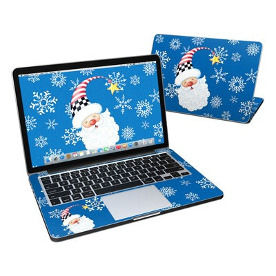 MacBook Pro Retina 13in Skin - Santa Snowflake