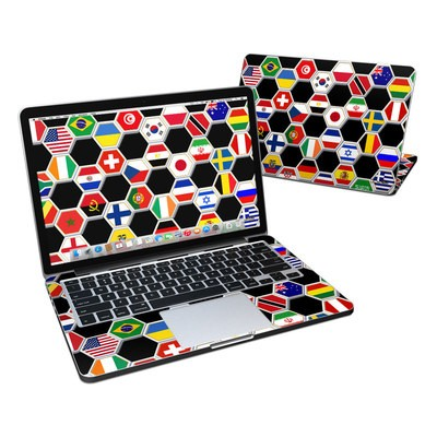 MacBook Pro Retina 13in Skin - Soccer Flags