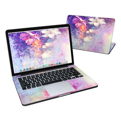 MacBook Pro Retina 13in Skin - Sketch Flowers Lily